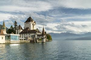 Oberhofen Castle and Lake Thun, Canton of Bern, Switzerland by Roberto Moiola