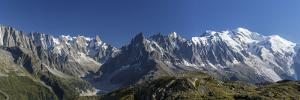 Panorama of the Mountain Range of Mont Blanc, Haute Savoie, French Alps, France by Roberto Moiola