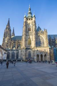 The gothic Cathedral of St. Vitus, Old Town Square, UNESCO World Heritage Site, Prague, Czech Repub by Roberto Moiola