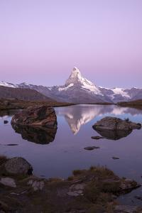 The Matterhorn Reflected in the Stellisee at Dusk by Roberto Moiola