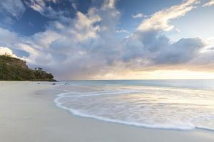 The Sky Turns Pink at Sunset and Reflected on Ffryes Beach, Antigua, Antigua and Barbuda by Roberto Moiola