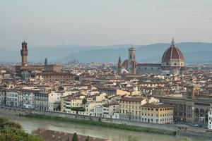 View of the Duomo with Brunelleschi Dome and Palazzo Vecchio from Piazzale Michelangelo, Florence, by Roberto Moiola