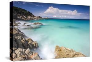 White rocks and cliffs frame the waves of turquoise sea, Santa Teresa di Gallura, Sardinia, Italy by Roberto Moiola