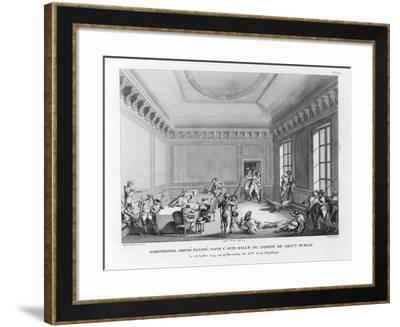 Robespierre Amené Blessé-Jean Duplessi-Bertaux-Framed Giclee Print