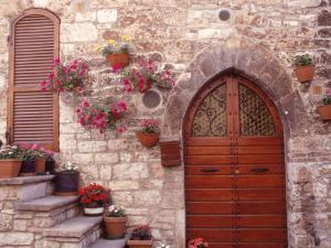 Exterior of House with Flowers, Italy by Robin Allen