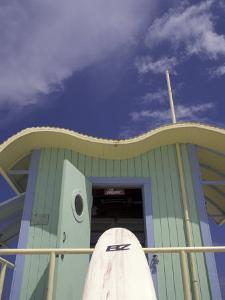 Art Deco Lifeguard Station, South Beach, Miami, Florida, USA by Robin Hill