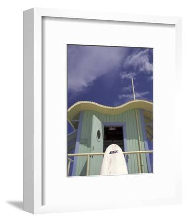 Art Deco Lifeguard Station, South Beach, Miami, Florida, USA