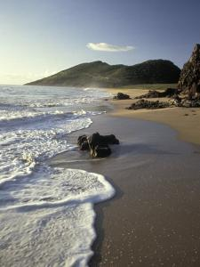 Atlantic Beach of St. Kitts, Caribbean by Robin Hill
