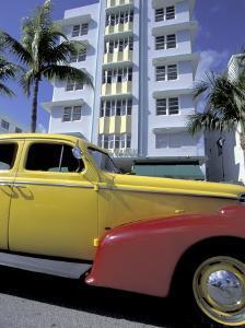 Cars on Ocean Drive, South Beach, Miami, Florida, USA by Robin Hill