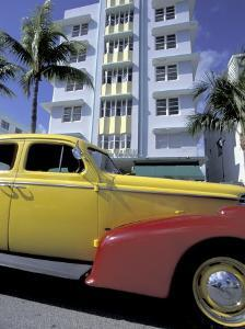 Cars on Ocean Drive, South Beach, Miami, Florida, USA by Robin Hill