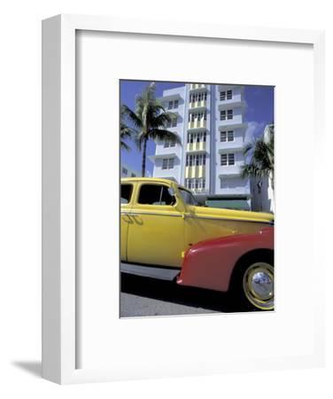 Cars on Ocean Drive, South Beach, Miami, Florida, USA