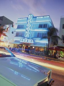 Colony Hotel and Classic Car, South Beach, Art Deco Architecture, Miami, Florida, Usa by Robin Hill