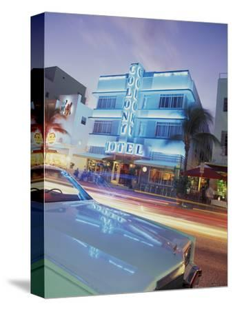 Colony Hotel and Classic Car, South Beach, Art Deco Architecture, Miami, Florida, Usa