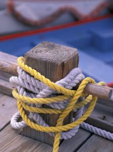 Knots Around Post, St. Thomas, Caribbean by Robin Hill
