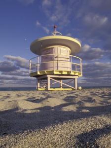 Lifeguard Station on South Beach, Miami, Florida, USA by Robin Hill