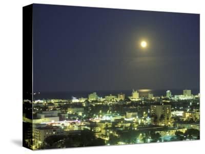 Moon over South Beach, Miami, Florida, USA