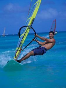 Windsurfer, Aruba, Caribbean by Robin Hill