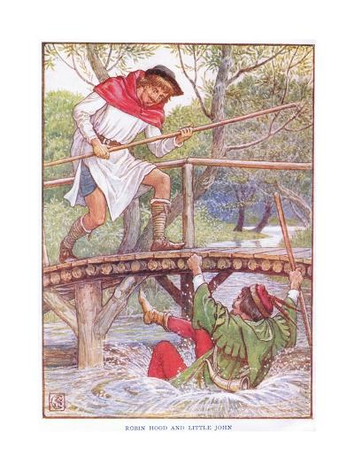 Robin Hood and Little John, C.1920-Walter Crane-Giclee Print
