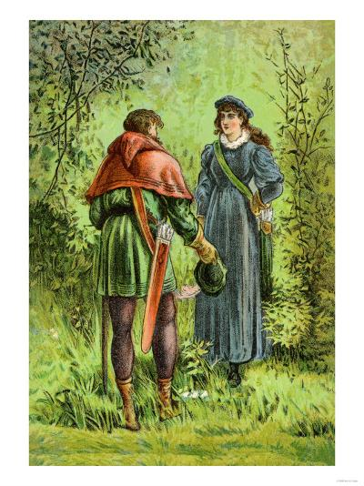Robin Hood and Maid Marian--Art Print
