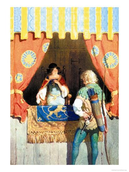 Robin Hood and Maid Marian-Newell Convers Wyeth-Art Print