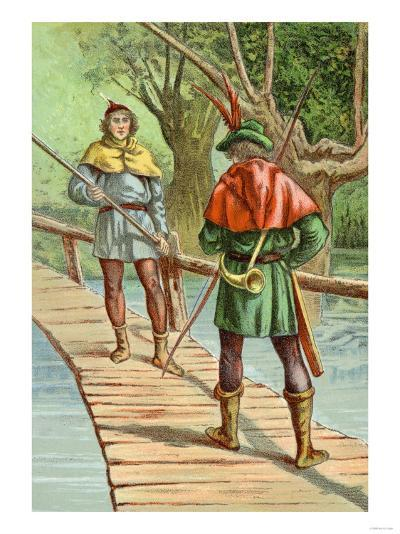 Robin Hood: Encounter with a Giant--Art Print