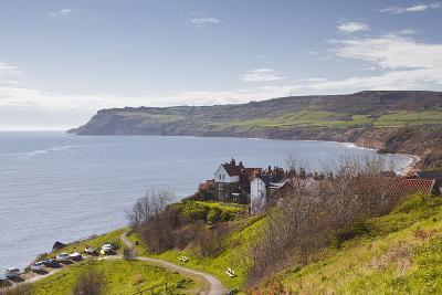 Robin Hood's Bay on the North York Moors Coastline, Yorkshire, England, United Kingdom, Europe-Julian Elliott-Photographic Print