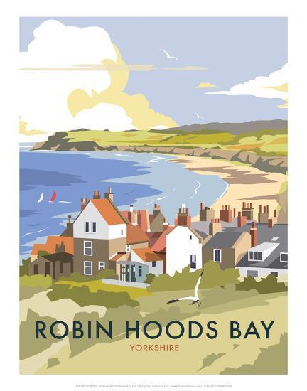 robin hoods bay dave thompson contemporary travel print. Black Bedroom Furniture Sets. Home Design Ideas