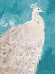 Royal Plume on Teal by Robin Maria
