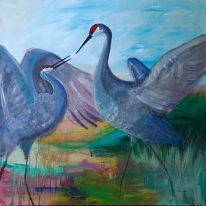 Sandhill Cranes by Robin Maria