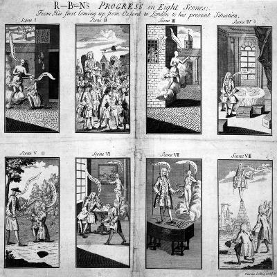 Robin's Progress in Eight Scenes--Giclee Print