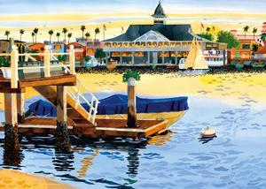Balboa Pavilion - Newport Beach, California by Robin Wethe Altman