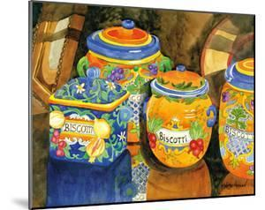 Biscotti Jars - Tuscany Italy - Italian Almond Cookies by Robin Wethe Altman