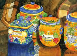 Biscotti Jars - Tuscany Italy - Italian Almond Cookies by Robin Wethe Altman