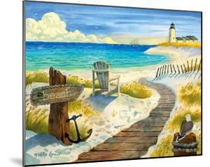 Boardwalk to the Lighthouse - Beach Chair Ocean View by Robin Wethe Altman