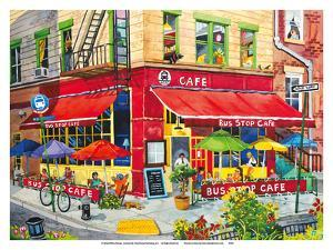 Bus Stop Cafe - New York City by Robin Wethe Altman