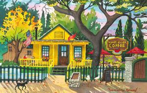 Hidden House Coffee Shop - San Juan Capistrano, California by Robin Wethe Altman