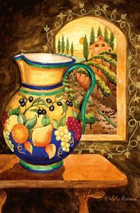 Italian Earth Vase - Tuscany Italy - Italian Villa, Vineyards by Robin Wethe Altman