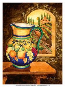 Italian Earth Vase - Tuscany Italy - Italian Villa, Vineyards by Robin Wethe Altman