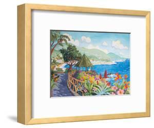 Laguna Beach Gazebo and Flowers - Heisler Park, California - Seaside Beach Ocean View by Robin Wethe Altman
