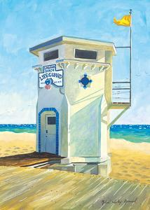 Laguna Beach Lifeguard Tower - Main Beach - California by Robin Wethe Altman