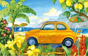 Little Cinquecento - Fiat Auto - Tropical Beach Paradise - Hawaii - Hawaiian Islands by Robin Wethe Altman