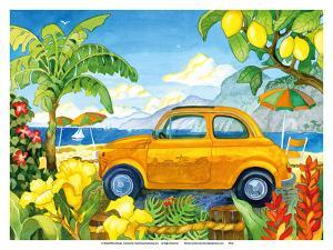 Little Cinquecento - Fiat Auto - Tropical Beach Paradise - Hawaii - Hawaiian Islands by Robin Wethe Altman