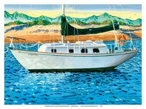 Sailboat in Mexico by Robin Wethe Altman