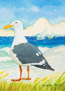 Seagull - Seaside Beach Ocean View by Robin Wethe Altman