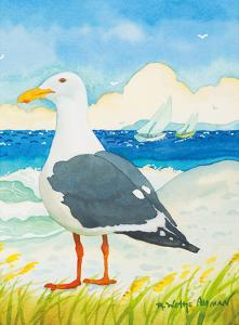 Seagull - Seaside Beach Ocean View by Robin Wethe Altman