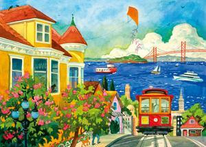 Spirit of San Francisco - California Bay Area - Cable Car, Golden Gate Bridge by Robin Wethe Altman