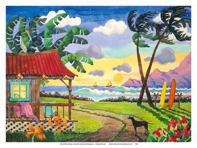 Sunset in Paradise - Tropical Beach - Hawaii - Hawaiian Islands