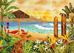 Surfing the Islands - Tropical Beach Paradise - Hawaii - Hawaiian Islands by Robin Wethe Altman