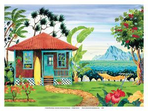 The Beach House - Hawaii - Hawaiian Islands - Tropical Paradise by Robin Wethe Altman