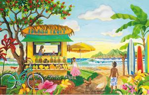 The Fruit Stand at the Beach - Tropical Paradise - Hawaii - Hawaiian Islands by Robin Wethe Altman
